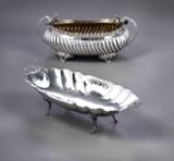 Italiensk sølvsmed. To korpusdele af sølv, omkr. 1900 (2)