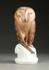 Royal Copenhagen. Ugle figur af porcelæn