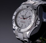 Rolex 'Yacht-Master'. Mid-size watch, steel with silver-coloured dial, c. 2006