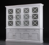 Large glass cabinet, white antiqued paint (2)