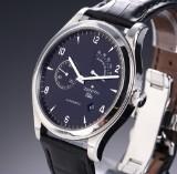 Zenith 'Elite Grand Class Reserve de Marché' men's watch, steel, black dial, 2000's