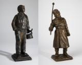 Konvolut Bronzen, Bronze, Figuren / Skulpturen, u. a.Vægter (2)