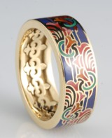 14kt multicolour emaille ring