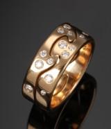 Georg Jensen, Fusion diamond ring, 18 kt. gold