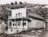 Edward Weston. Silver gelatin print. False-Front House from 1937