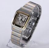 Cartier 'Santos Chronoflex'. Unisexur i 18 kt. guld og stål med chronograf, ca. 2000