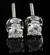 18kt Diamond earrings approx. 0.50ct