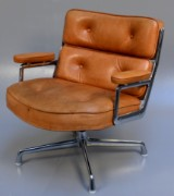 Charles and Ray Eames. Lobby Chair, ES-105, natural leather