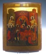Ikon, 'Guds moder sover ind', Rusland, 1700-tallet