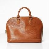 Louis Vuitton handväska Alma PM i cognacsfärgat