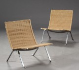 Poul Kjærholm 1929-1980. A pair of PK22 armchairs, wicker (2)