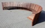 Per Borre/Fredercia Furniture. Semi-circular bench, oiled Jatoba, model Astral