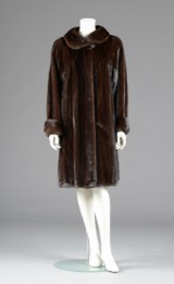 Mahogany mink coat, labelled: Marco Gianotti. Size 40