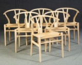 Hans J. Wegner, sechs Stühle Modell CH 24 Y-Chair (6)
