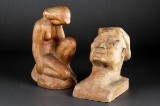 To træskulpturer (2)