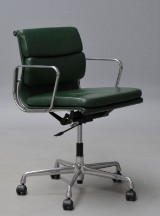 Charles Eames. 'Full Leather' Soft Pad office chair, model EA-217