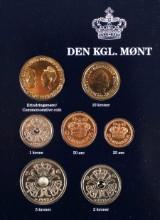 Mønter med 200 kroner sølv og flere møntsæt