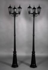 Parklamper, trearmet i aluminium (2)