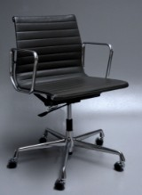 Charles Eames. Office chair, 'Full Leather', model EA-117