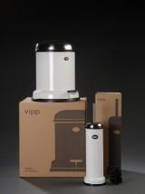 Vipp. En Vipp14 pedalspand samt en Vipp11 toiletbørste, hvid (2)