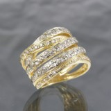 Gold ring with diamonds, approx. 1.00 ct.