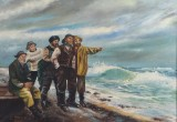 C. Steen. Fiskere ved stranden.