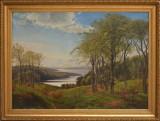 Vilhelm Kyhn. View from Hindsgavl towards Fænø. Oil on canvas
