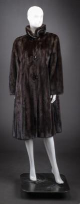 Mahogany mink coat, size 40