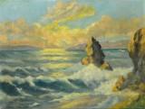 Ölgemälde, unbekannter Künstler 'Küste'