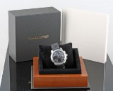 Baume & Mercier automatic chronograph steel watch with box and papers
