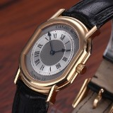 Daniel Roth 'Numero 11'. Men's watch, 18 kt. gold with two-tone dial, 2000s