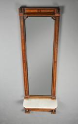Christian IX spejl med konsol af nøddetræ og -rod, 1860-80