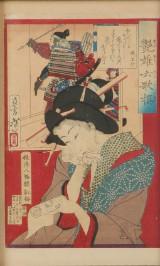 Japansk træsnit. 1800-tallet.