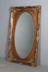 Ovalt spejl med guldramme, 1900-tallet. Bemærk: H. 172 cm.