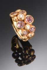 Ole Lynggaard: 'Bubbles' ring with diamond and tourmaline