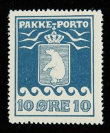 Greenland, P.P. afa: 3 mint NH, fine example. Certificate from Lasse Nielsen