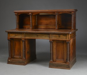 Lot 4217155 victorian desk in w pugin 39 s style rosewood for New england style desk