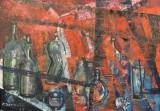 Acrylgemälde, A. Garmatz, 'Abstrakte Komposition'
