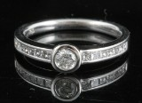 Handmade diamond solitaire ring in 18kt approx.0.50ct