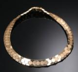 Halskæde med bicellemønster af 14 kt. guld, ca. 54 g