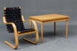Børge Mogensen klapbord samt stol i bøgetræ (2)