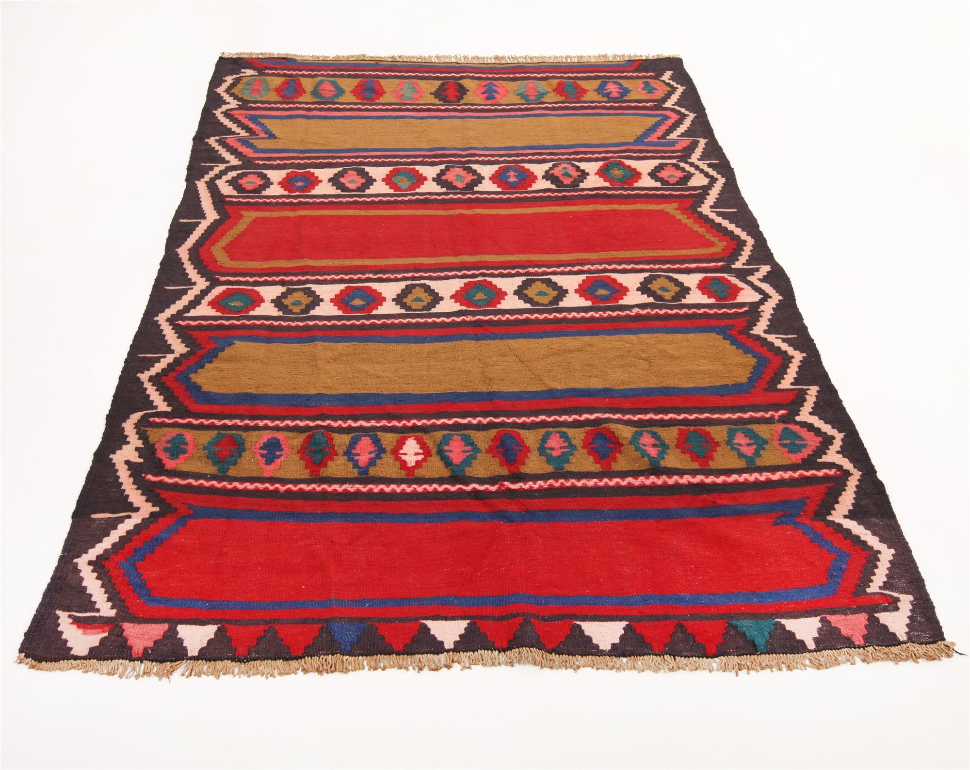Persisk Shahsavan Kelim 262 x 190 cm - Persisk Shahsavan Kelim, nordvest Persien. Uld på bomuld. 262 x 190 cm