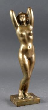 Ubekendt kunstner. bronzeskulptur i form af nøgen kvinde
