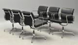 Charles Eames. Sæt på seks Soft Pad armstole, Model EA-208 (6)