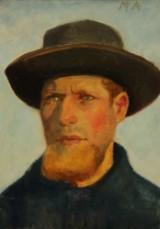Michael Ancher. Portrait of Skagen fisherman