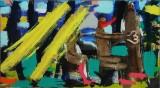 Jon Gislason. 'Omnibus', 2014, oil and acrylic on canvas