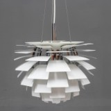 Poul Henningsen. Pendant lamp, 'Artichoke', white, Ø 48 cm.