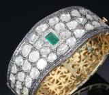 Oriental emerald and diamond bracelet