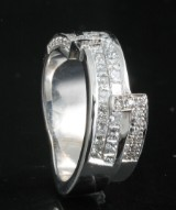 Diamond ring in 18kt approx. 1.41ct