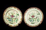 Två skålfat, Qianlong, Kina, 1700-tal (2)
